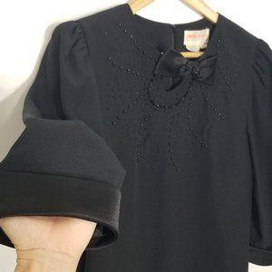 Simon Chang Vintage Classic Black Shift Dress